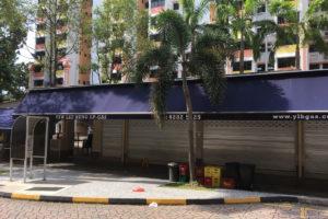 Hawker center zamknięte na cztery spusty to rzadki widok w Singapurze.