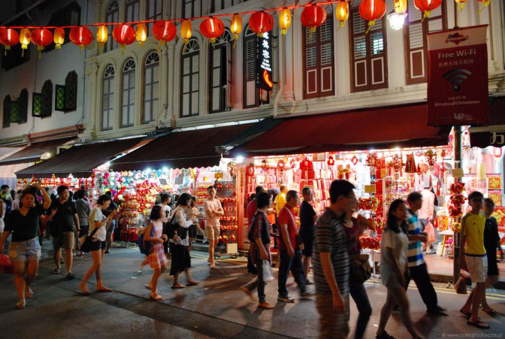 Jedna z ulic Chinatown.