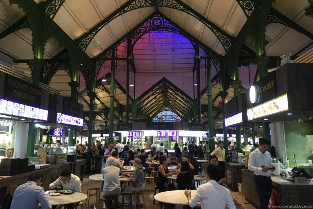 Lau Pa Sat i jego piękna architektura od wewnątrz.