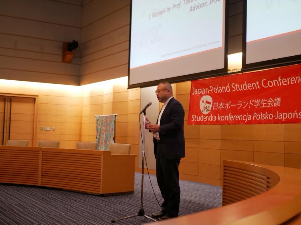 Wystąpienie: p. Taku Shinohara. Źródło: materiały organizatorów konferencji.