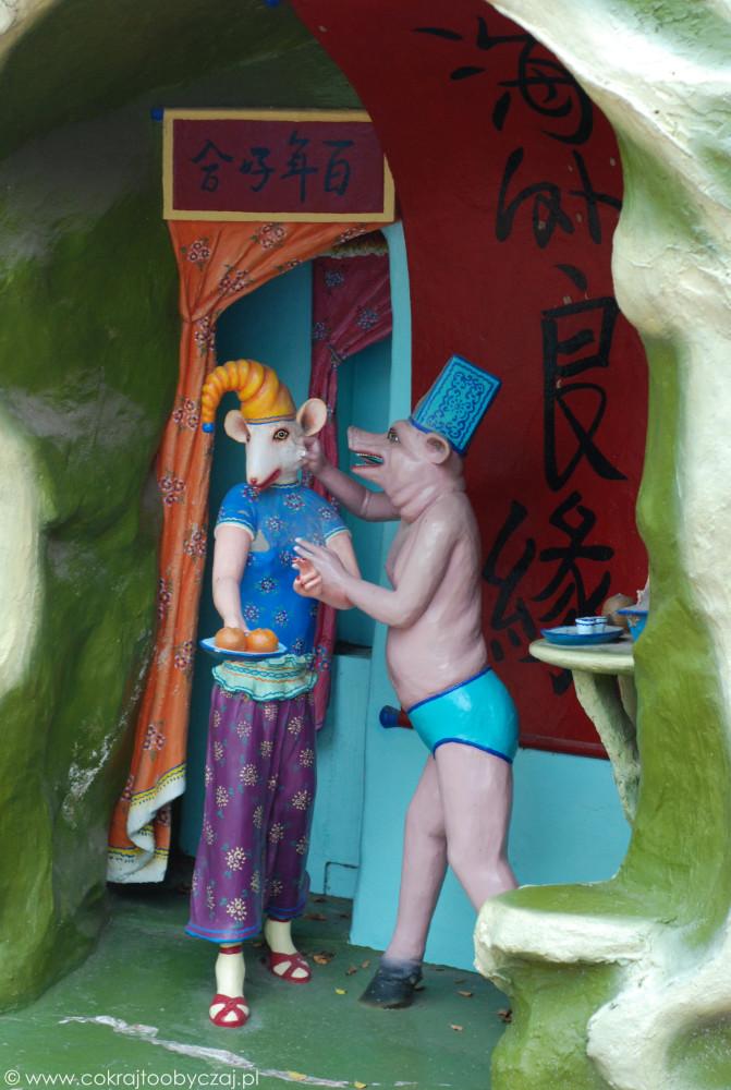 Interpretację tej sceny pozostawiono wyobraźni zwiedzających.