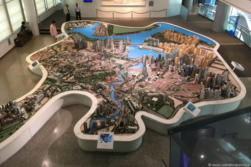 Tak wygląda Singapur na makiecie.