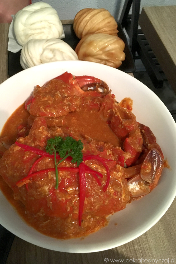 Chilli crab i mantou