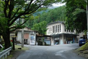 Stacja kolejki linowei Hieizan Sakamoto.