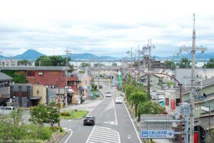 Widok na miasteczko Otsu i jezioro Biwa.