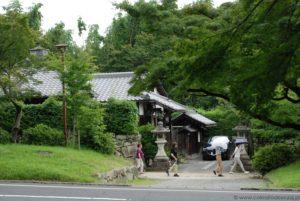 Japoński dom w drodze do Enryaku-ji.
