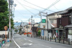 Ulica łącząca dworzec w Otsu z kolejką linową na górę Hiei.