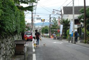 Powrót z Enryaku-ji ulicami Otsu.