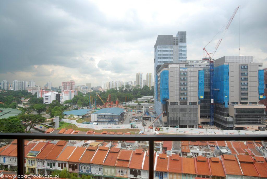 Budowa szpitala niedaleko Outram Park MRT.