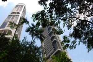 Condo i korony drzew, Singapur.