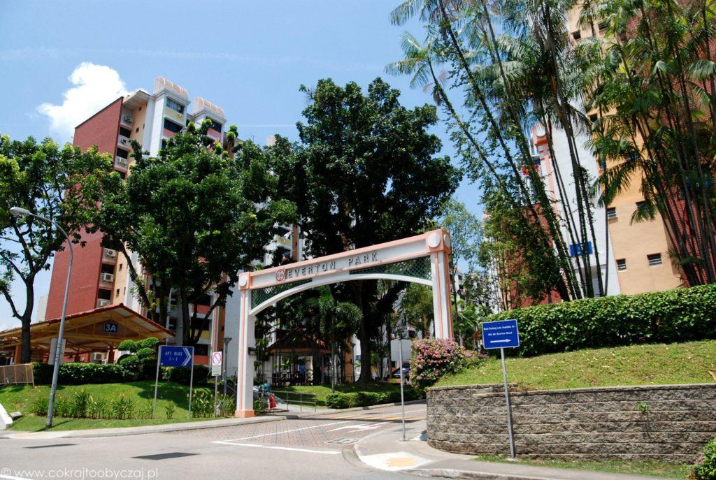 Osiedle HDB Everton Park, Singapur, okolice Outram Park.