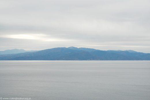 Widok na morze, Japonia.