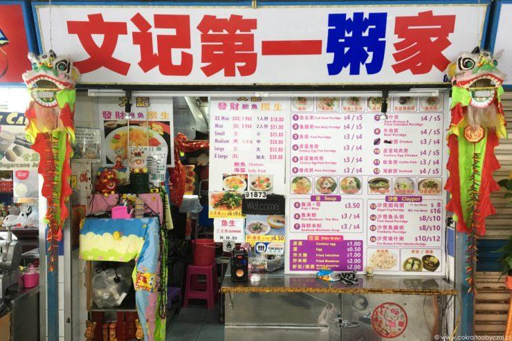 Stoisko w Chinatown Hawker Center, Singapur.