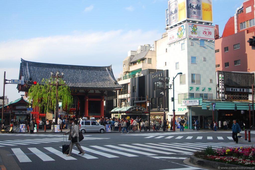 Kaminari-mon w dzielnicy Asakusa, Tokio.