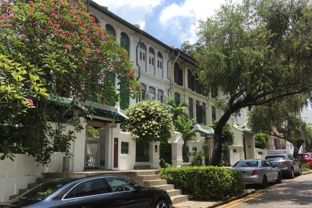 Kolonialne domy w Emerald Hill niedaleko Orchard w Singapurze.